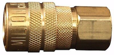 "MILTON 715 Air Hose Coupler M style 1/4"" Female NPT Threads"