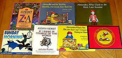 Lot 7 JUDITH VIORST Picture Books Alexander and the Terrible Horrible Bad Day L2