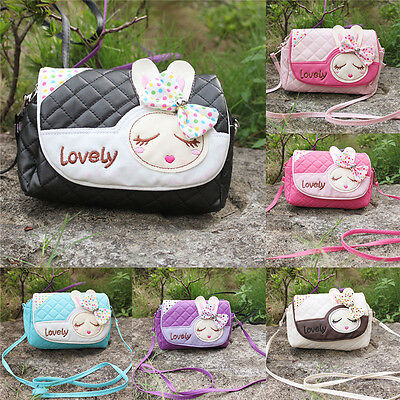 Cute Kids Children Girls Princess Bowknot Handbag Shoulder Bags Messenger Purse