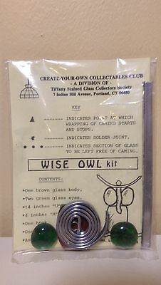"Tiffany Collectors Society Stained Glass Window Ornament ""Wise Owl"""