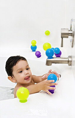 Boon Bubbles Suction Cup Bath Toy Game 10 Stacking And Linking Bubble Set