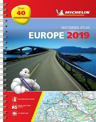Michelin Europe Road Atlas A4 Spiral 2019