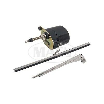 12 Volt Wiper Kit With Motor, Arm, And Blade, Black Motor