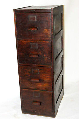 "Art Deco ""KABYNETTE"" 4 Drawer Oak Filing Cabinet - FREE Delivery [PL1888]"