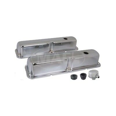 Valve Covers, Chrome, 390, 427 & 428, V8, With Oil Cap With Tube 41-94171-1