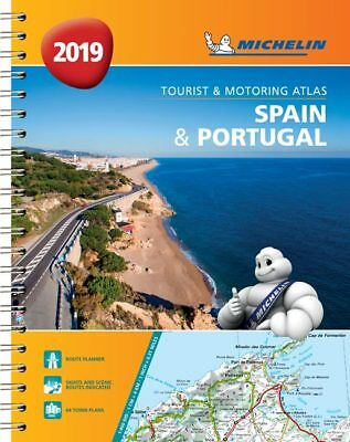 Michelin Spain & Portugal Road Atlas A4 Spiral 2018