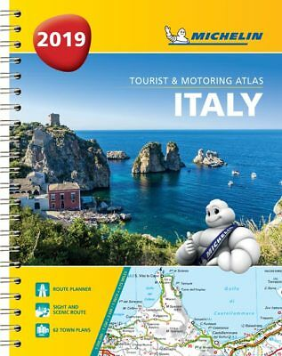 Michelin Italy Road Atlas A4 Spiral 2018