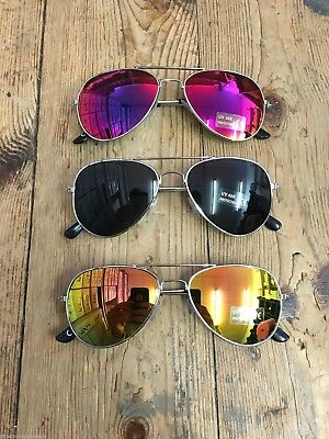 Childrens Kids Boys Girls Aviator Sunglasses Shades Revo Lenses Uv400 Protection