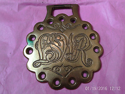 """Collectable Horse Brass:Inscribed """"LSWR"""" in Script & Pierced Scalloped Surround"""