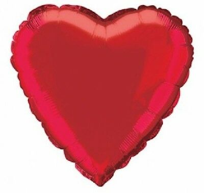 "Valentine Red Heart Shaped 18"" Foil Balloon Love Wedding Party Decoration"