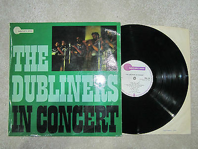 THE DUBLINERS In Concert UK TRANSATLANTIC RECORDS VINYL LP TRA 124