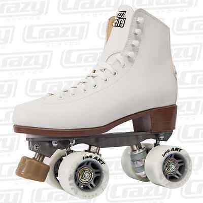 Crazy CELEBRITY Classic Retro Roller Skates - White - NEW Rollerskates CLEARANCE