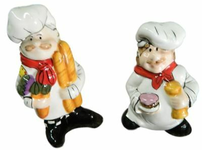 Collectable Novelty Salt & Pepper Shakers Set, COOKING CHEFS, FREEPOST NEW