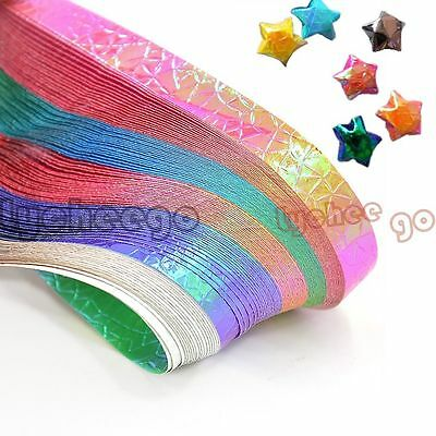 90 Strips Pearl Shiny Folding Origami Paper Lucky Star Assorted Home DIY Gift