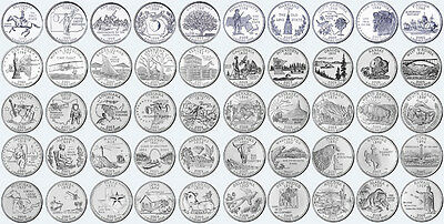 "1999-2008 U.S. State Quarters Complete Uncirculated Collectible Set 50 Coins ""D"""
