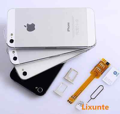 Mobile phone Dual SIM Card Chip Holder Adapter Converter For iPhone 5 5S 5C 6