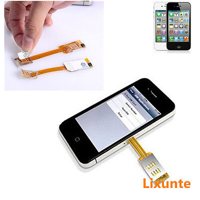 Cell Phone Thin Dual Double SIM Card Chip Adapter Converter For iPhone 5 5S 5C 6