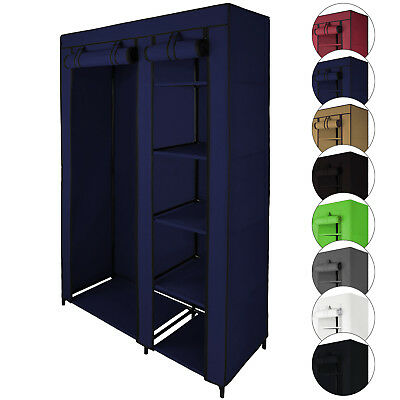 Double Canvas Fabric Wardrobe SMART 110x45x175 cm with Hanging Rail Cupboard