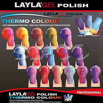 Layla Gel Polish Thermo Colour Smalto Semipermanente Laylagel Uv Unghie