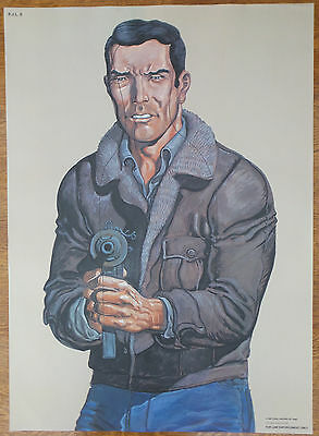 Vintage Police 'Law Enforcement' Shooting Target Gunman 'Man Cave' Poster 1990s