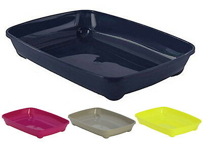 Cat Small Litter Tray 37x28x6cm 4 Colours Quality Box Pan Toilet Loo Kitten