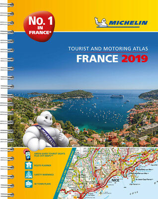 Michelin France Road Atlas A4 Spiral 2017