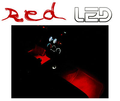 SEAT LEON 3 5F 2 Ampoules LED ROUGE plancher sol Pieds Tapis Red Light Footwell