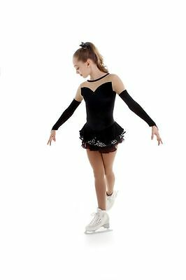 New Competition Figure Skating Dress Elite Xpression 1506 black CXS 4-6