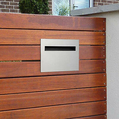 MILKCAN A4 FENCE MOUNT LETTERBOX Wall 304 STAINLESS Mailbox Picket Fence