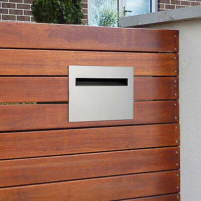 Milkcan Letterbox Palazzo Fence Mount Wall Stainless Steel Mailbox Picket Fence