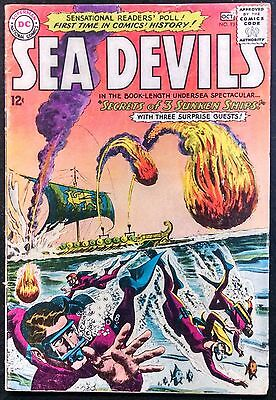 Sea Devils 1963 #13 Vg Minus Clean Book,d.c.artists Appear In The Story Line!