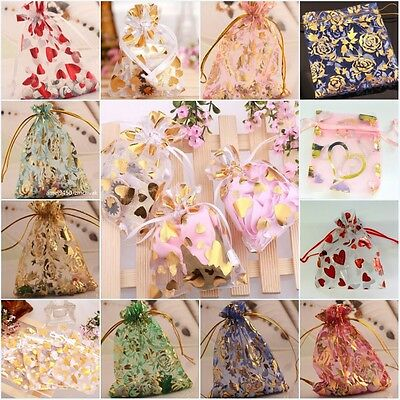 Organza Gift Bags Jewellery Christmas Packing Pouches Wedding Party Favour 100PC