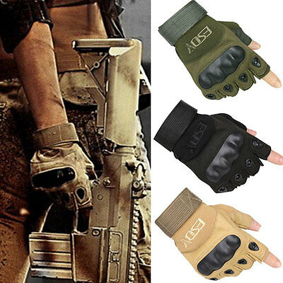 Tactical Military Airsoft Hunting Outdoor Sport Fishing Armed Half Finger Gloves
