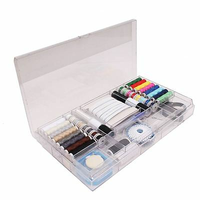 Professional Sewing Kit 167 Pieces Needles Pins Threads Elastics Storage Box