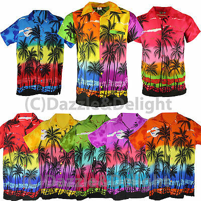 Hawaiian Shirt Party Fancy Dress S Xl Xxl Beach Palm Tree Shirt Stag Party Large