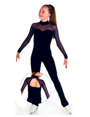 Competition Skating Dress Catsuit Unitard Navy Elite Xpression 1554 12-14 Cxl