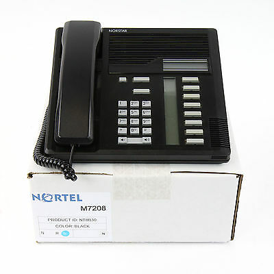 Nortel Norstar M7208 Black Meridian Telephone Set- Top Quality Ref 1 Yr Warranty