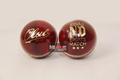 ND Sports Grade A Cricket Balls (Pack of 2) Color Pink/Red Weight 4.75oz/5.5oz