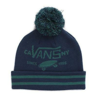 9d8a1074 Vans Off The Wall Full Patch Pom Cuff Wicking Beanie Blue Green Mens Hat  New NWT