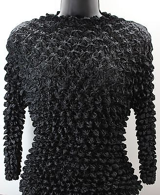 Women's Popcorn Long-Sleeve Turtle Neck Top, Black, 1 Count , One Size: S-L
