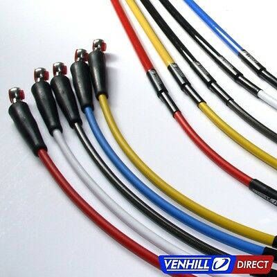 2015 Honda CRF450R Front + Rear Braided Stainless SS Brake Lines by Venhill