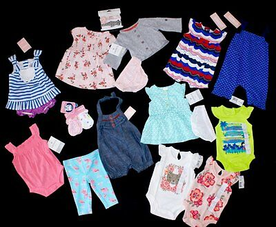New Baby Girl Clothing Lot Size Newborn Outfits Sets Gymboree Carter's FREE SHIP