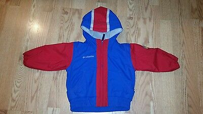 cafb741c Columbia Boys Winter Coat Jacket 24 Months Red Blue Hooded Zip Up Adorable  Cute