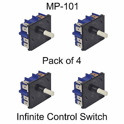 Genuine Simmerstat Hotplate Cooktop Control Switches MP101 Quantity 4 0534001654