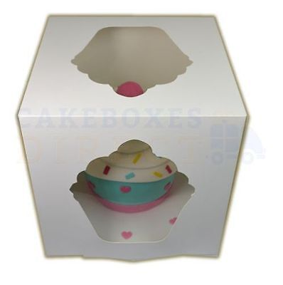 10 x GIANT CUPCAKE BOXES FREE NEXT DAY DEL IF ORDERED B4 1PM