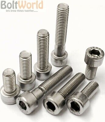 M4 / 4mm A4 MARINE GRADE STAINLESS STEEL SOCKET CAP SCREWS, ALLEN KEY HEAD BOLTS