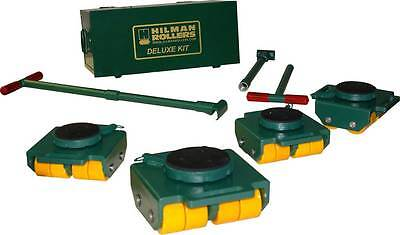 4 Ton Hillman Rollers KBSP-4P Bull Dolly Machinery Skate Kits, Poly Wheels NEW