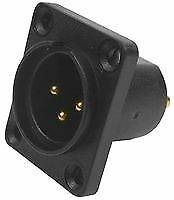 Cliff Electronic Components Cp30060 Plug, Xlr, Panel,airtight,3 Pole,solder
