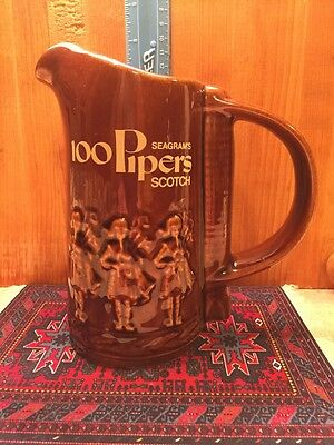 Seagram's 100 Pipers Scotch Advertising Pitcher