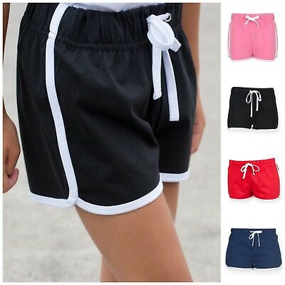 Childrens Kids Boys Girls Retro Shorts Training Fitness Sports Gym Shorts PE